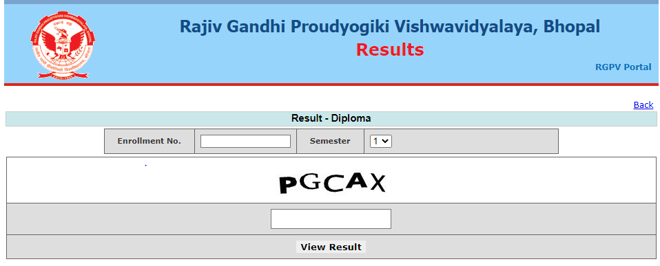 RGPV Diploma Result 2020 - 2021 1st 2nd 3rd 4th 5th 6th 7th 8th Sem