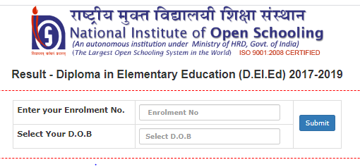 NIOS Deled Result 2020 - 2021 Supplementary Date